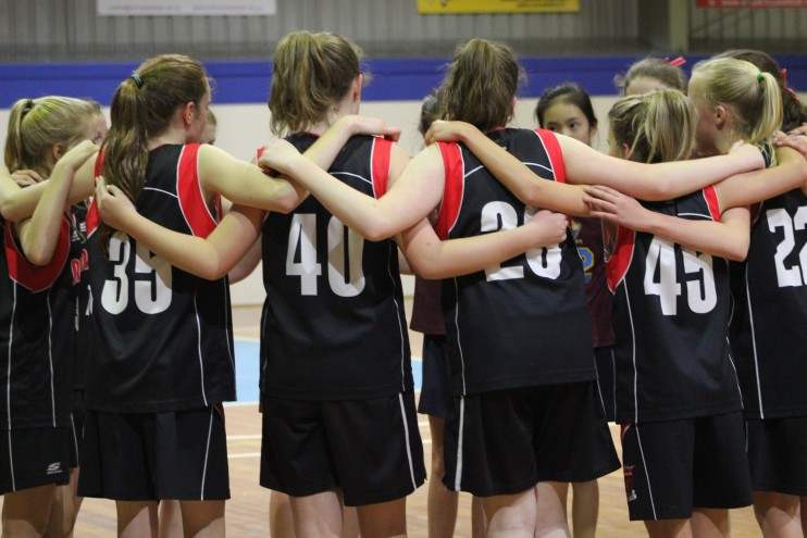 U14 C Girls Huddle