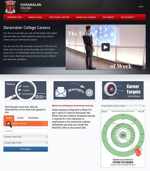 Daramalan Careers web page